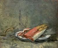 Натюрморт с кетой (М.К. Соколов, 1934 г.)