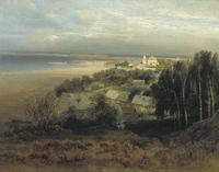 Печерский монастырь под Нижним Новгородом (А. Саврасов)