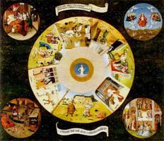 """Иероним Босх. Картина """"Семь смертных грехов и четыре последние вещи"""""""