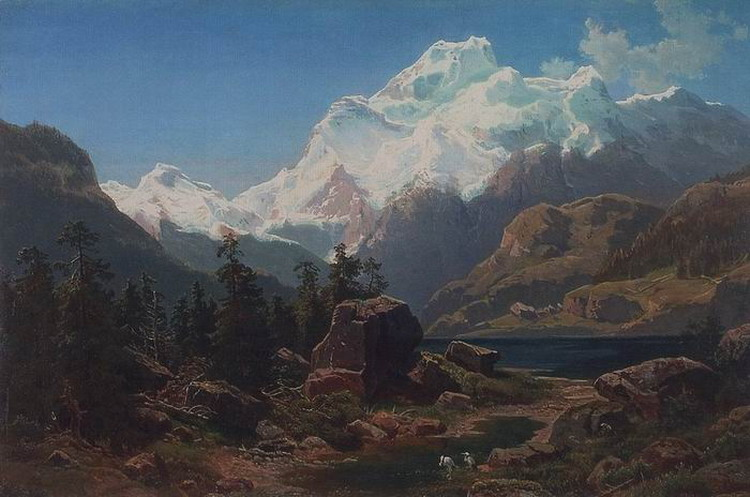 Швейцарский вид. 1862