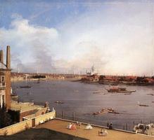 Вид на Темзу и Лондон из Ричмонд-хаус (Каналетто)