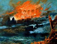 Эскиз декорации к опере Р. Вагнера Гибель богов (М. Брюкнер)