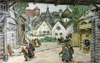 Эскиз декорации к опере Опричник (В.М. Васнецов, 1911 г.)