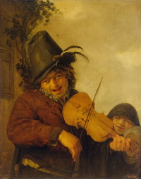 Странствующий музыкант (А. ван Остаде, 1648 г.)