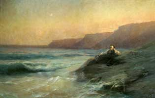 Пушкин на берегу Чёрного моря (И.К. Айвазовский)