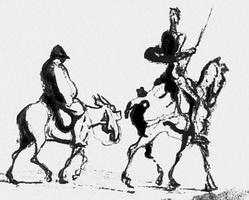Дон Кихот и Санчо Панса (О. Домье, ок. 1870 г.)