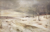 Зимняя дорога (А. Саврасов)