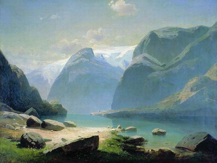 Озеро в горах Швейцарии. 1866