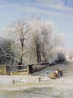 Зимний пейзаж. Москва. 1873
