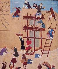Строительство мечети (К. Бехзад)