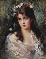 Девушка в костюме флоры (К. Маковский)