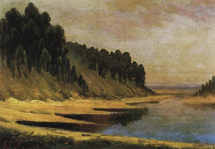 Лесистый берег реки Москвы. 1859