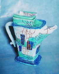 Керамический чайник с кракле