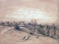 Воробьевы горы близ Москвы. Конец 1840-х - 1850-е