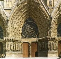 Реймский собор. Перспективный портал западного фасада.