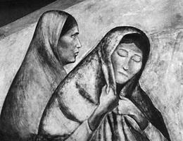 Рабочий класс (Х.К. Ороско, фрагмент фрески, 1922-1927 г.)