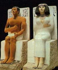 Статуя египетских правителей