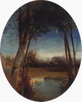Речной пейзаж. 1880-1890-е