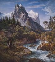 Вид горы Веттерхорн из долины Розенлауй (Й. Кох)