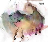Кот (картина гуашью)