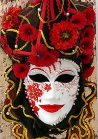 Венецианская маска (папье-маше)