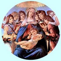 Мадонна с гранатом (Сандро Боттичелли, ок. 1490 г.)
