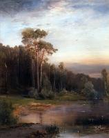 Летний пейзаж с соснами у реки. 1878