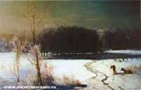 Пейзаж с волками. 1880-е