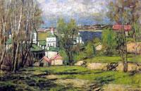 Москва с Воробьевых гор (П.И. Петровичев)