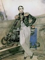 Портрет В. Корнилова на борту брига Фемистокл