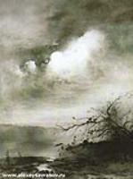 Лунная ночь над озером. 1885