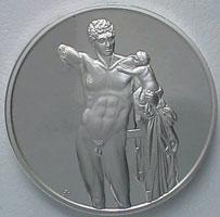 Гермес (серебряный медальон)