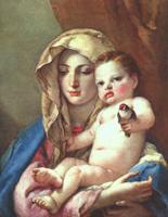 Художник Джованни Тьеполо, картина - Мадонна со щегленком