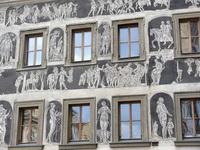 Сграффито на доме в Праге
