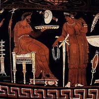 Аид и Персефона (керамика, середина 4 в. до н.э.)