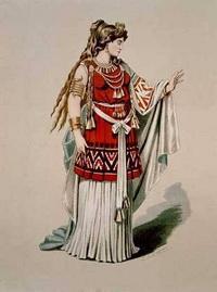 Эскиз костюма Брунгильды