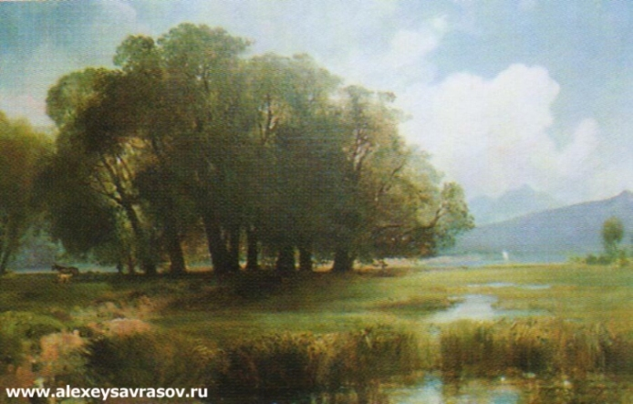 Пейзаж с конями. Предгорье. 1860-е