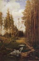 Просека в сосновом лесу. 1883