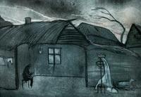 Эскиз декорации к спектаклю Черная уздечка белой кобылицы
