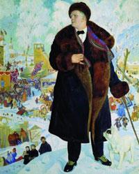 Ф.И. Шаляпин (Б.М. Кустодиев)