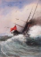 Гибель корабля в море. 1862