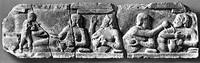 Сцена пиршества (Фриз храма Афины в Ассосе, 6 в. до н.э.)