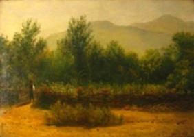 Худoжник Лагорио Л.Ф. Крымский пейзаж, холст, масло