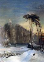 Лес в инее. 1890-е