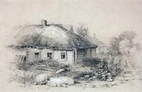 Пейзаж с избушкой. 1860-е