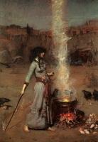 Магический круг (Дж.У. Уотерхауз, 1886 г.)