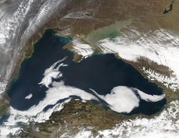 Космический снимок Чёрного моря