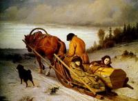Проводы покойника (В.Г. Перов, 1865 г.)