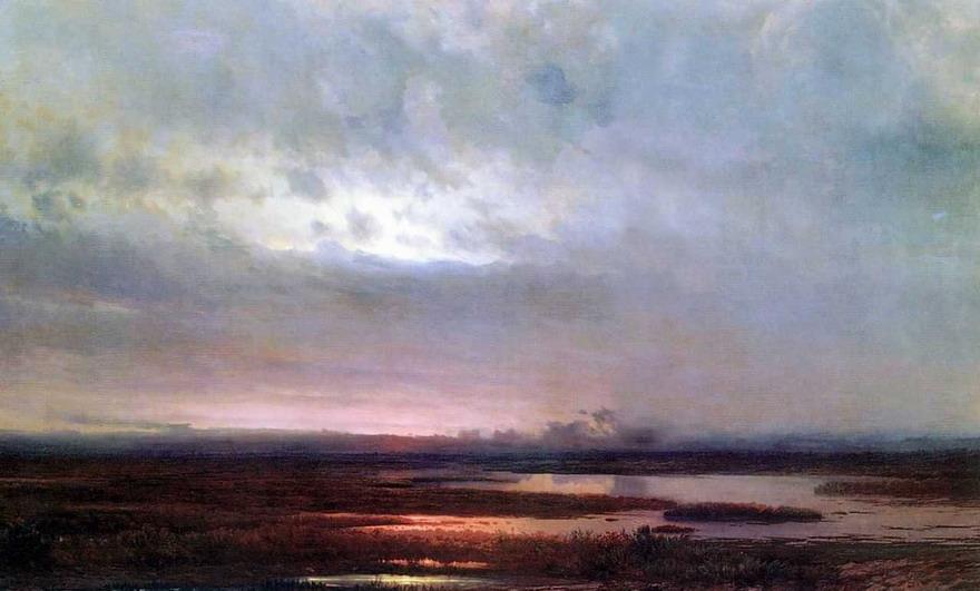 Закат над болотом. 1871