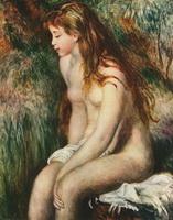 Купальщица (О. Ренуар, 1893 г.)